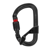 Petzl AMD H Frame Black SCREWLOCK carabiner with CAPTIV