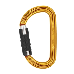 Petzl AM'D H-frame TRIACT LOCKING Gold carabiner
