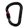 Petzl WILLIAM H-frame Black SCREWLOCK carabiner