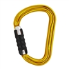 Petzl WILLIAM H-frame TRIACT LOCKING Gold carabiner