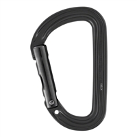 Petzl SM'D WALL H-frame Black carabiner with tethering hole