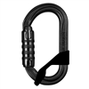 Petzl OXAN TRIACT LOCK Black Steel Carabiner with Captiv 2017