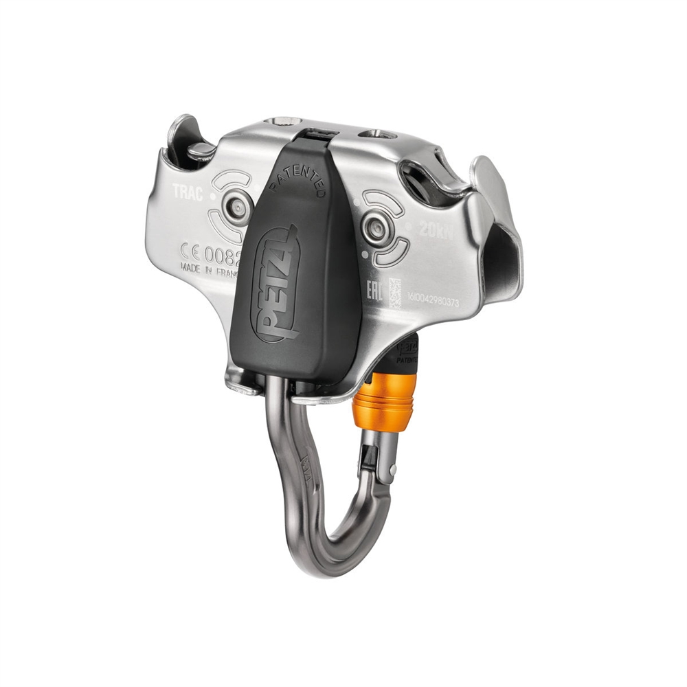 OmniProGear Brakehawk braking system with Petzl TANDEM SPEED zipline pulley