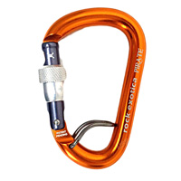 Rock Exotica Pirate WireEye Screw-Lock Carabiner