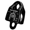 Rock Exotica Machined Rescue Pulley Double Black  P22D-B