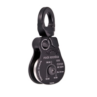 "Rock Exotica Omni-Block 1.5"" Single-Steel Sheave Black Pulley P51SS-B"