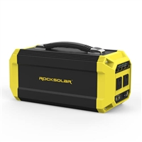 RockSolar Portable Solar Generator 110v at 300watts 12v USB QC3.0 330Wh 89200mAh 3.7V RS630