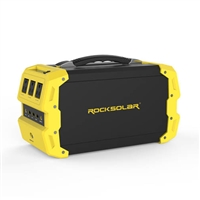 RockSolar Portable Solar Generator 110v at 400watts 12v USB QC3.0 444Wh (120000mAh / 3.7V) RS650