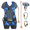 Complete Zipline Kit with Full Body Harness and Pulley