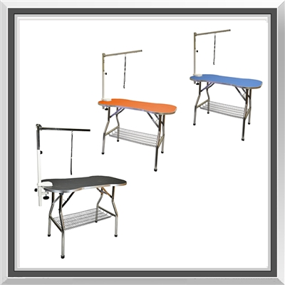 pet grooming table, dog grooming table, grooming table, foldable grooming table, large, stainless steel, bone shape, non-slip, no slip