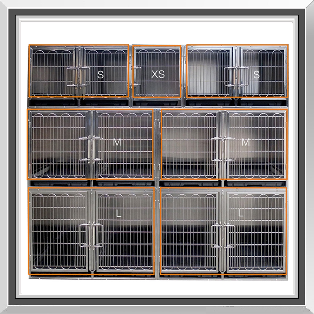 Flying Pig Professional Stainless Steel Modular Kennel Cage