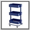 Flying Pig Tool Cart- Navy Blue