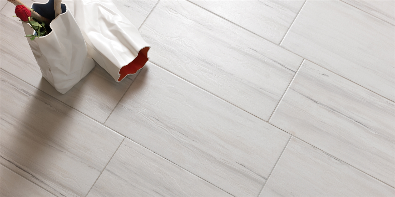 Paint Stone White Porcelain Tile 12\