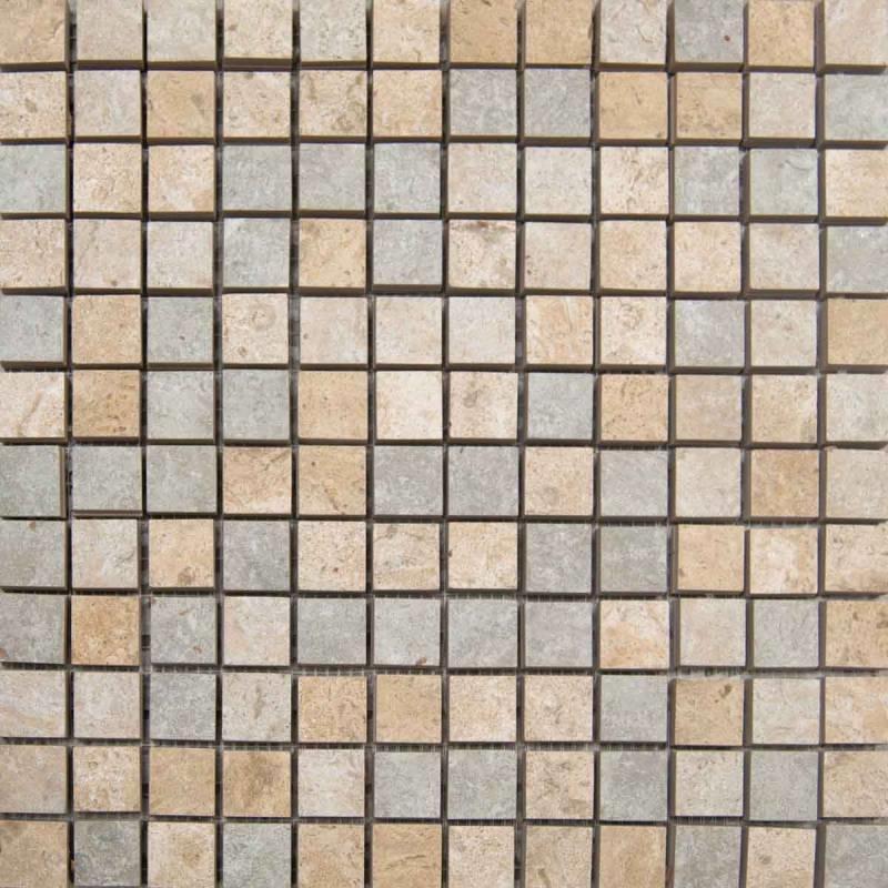 Mosaic C Stone 1 X 1 Mix 12 X 12 Sheet Sandreefpearlsuwanee