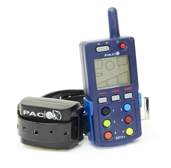 Picture of the EXT6 Handset and one EXC4 Collar. Carry case in back comes with the kit.