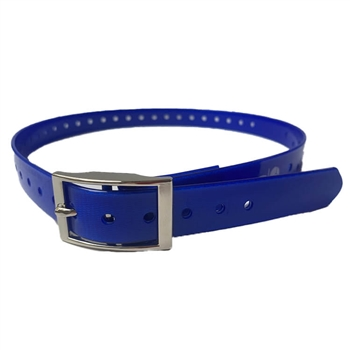 blue dog collar strap