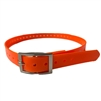 Rubber Buckle Strap Collar (Orange)