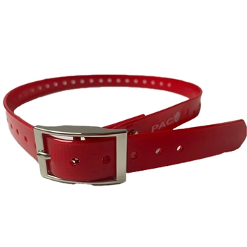 Rubber Buckle Strap Collar (Red)