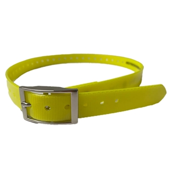 yellow dog collar strap