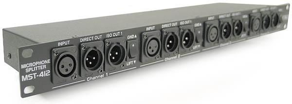Ewi 4 Channel 3 Way Xlr Splitter Rack N Roll Audio