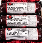 Wisconsin's Best's quality naturally hickory pit smoked 3 Pack summer sausage selection. Perfect for a gift or any snacking occasion, it is the very best. Rich with flavor,  Original, Garlic and Onion & Garlic Pit Smoked