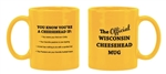 Official Wisconsin Cheesehead 2-Sided Mug