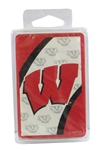 UW Badger 'W' Pattern Playing Cards