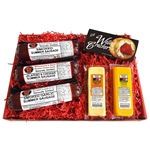 Wisconsin's Best Sausage Sampler, Cheese and Cracker Gift Box