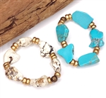 B4716-GP Howlite or Turquoise