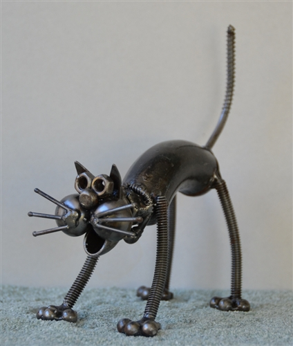 Wall E Sculpture Hand Made From Recycled Scrap Metal