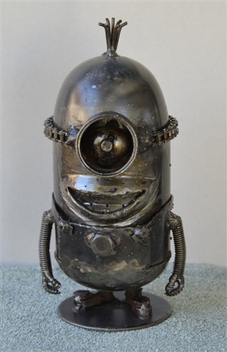 Alien Sculpture Hand Made From Recycled Scrap Metal
