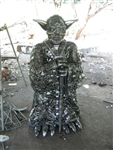 Yoda Sculpture, Scrap Metal Art