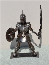Spartan Sculpture, Scrap Metal Art