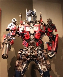 Transformer Sculpture Optimus Prime, Scrap Metal Art