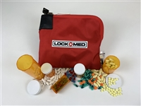 LOCKMED LOCKBAG with Key Lock - RED