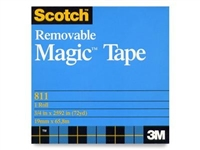 "3M 811 Magic Plus Tape 3/4""x72 Yard Roll <BR> 3 in. Core"