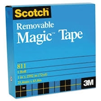 "3M 811 Magic Plus Tape 72 Yd Roll - 3"" core"
