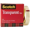 "3M 600 Transparent Tape <BR> 3/4"" x 72 Yd Roll <BR> 3"" Core"