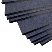 Stack of black facing black core dense foam board