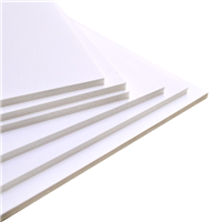 Stack of thick white facing white core dense foam board
