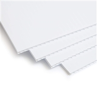 stack of white plastic corrugated sheets