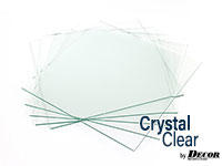 stack of crystal clear 2mm glass panes