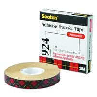 "3M 924 ATG Tape 1/2"" X 36 yard roll"