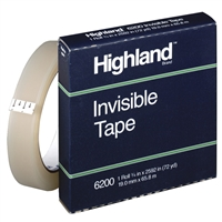 "3M Highland Invisible Mending Tape</br> 3/4"" x 72 yards <BR> 3"" Core"