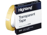 3M Highland Transparent Tape 3/4 in x 72 yds.