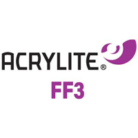 acrylite plexiglas logo with purple emblem