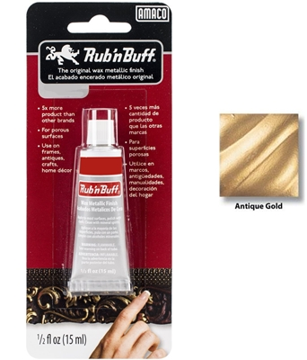 Rub n Buff-Metallic Color</br>(1/2 oz. tube - Antique Gold)