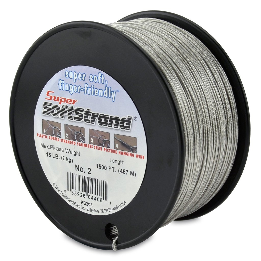 Super Softstrand Plastic Coated Picture Wire #2