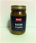 Meat Maniac Spicy Bacon Flavored Bread & Butter Pickles (16oz)