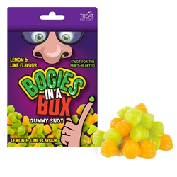 Boogies in a Box- Lemon Lime flavored Gummy Snot (2.65oz)